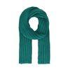 Grof gebreide sjaal smaragd groen