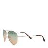 Goldene Pilotenbrille mit grünen Gläsern
