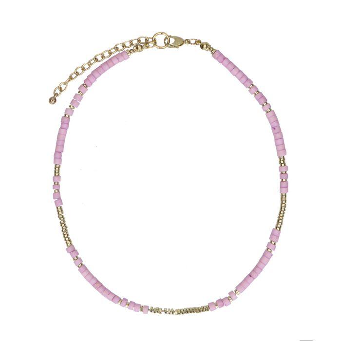 Lilafarbener Perlen-Choker