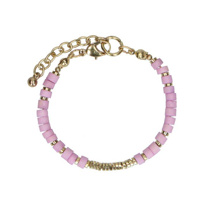 Armband mit lilafarbenen Perlen
