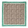 Foulard avec imprimé léopard - beige/vert