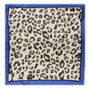 Foulard avec imprimé léopard - bleu