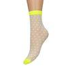 Chaussettes transparentes à pois - jaune
