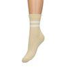 Chaussettes pailletées à rayures - jaune