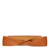 Beigefarbener Taillengürtel mit Schleife