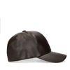 Dunkelbraune Kappe in Leder-Optik