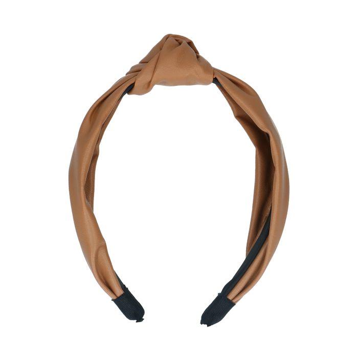 Camelbraunes Haarband mit Knoten