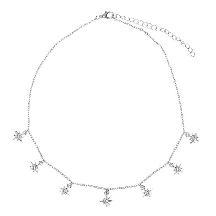 Collier avec petites étoiles - argenté