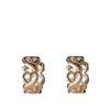 Boucles d'oreille avec motif petits cœurs - doré