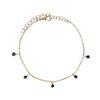 Bracelet avec perles noires - doré