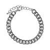 Bracelet gros maillons - argenté