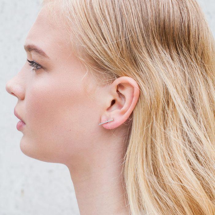 Boucles d'oreille barrettes - argent