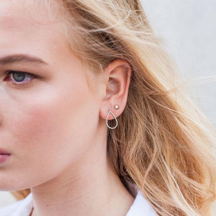 Boucles d'oreille 'goutte' argentées