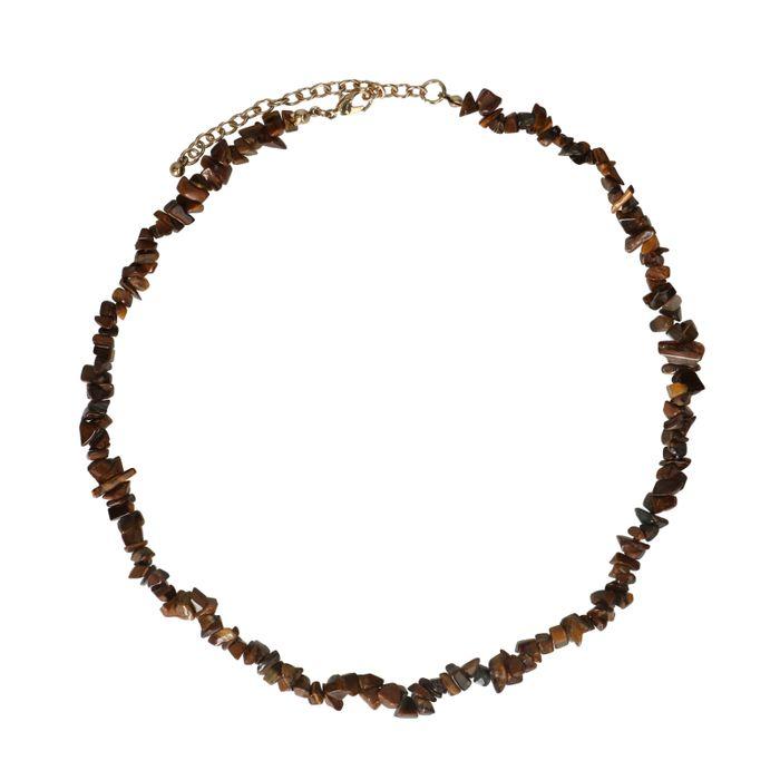 Collier avec perles - marron
