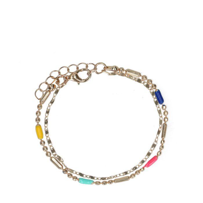 Bracelet avec petites perles - doré