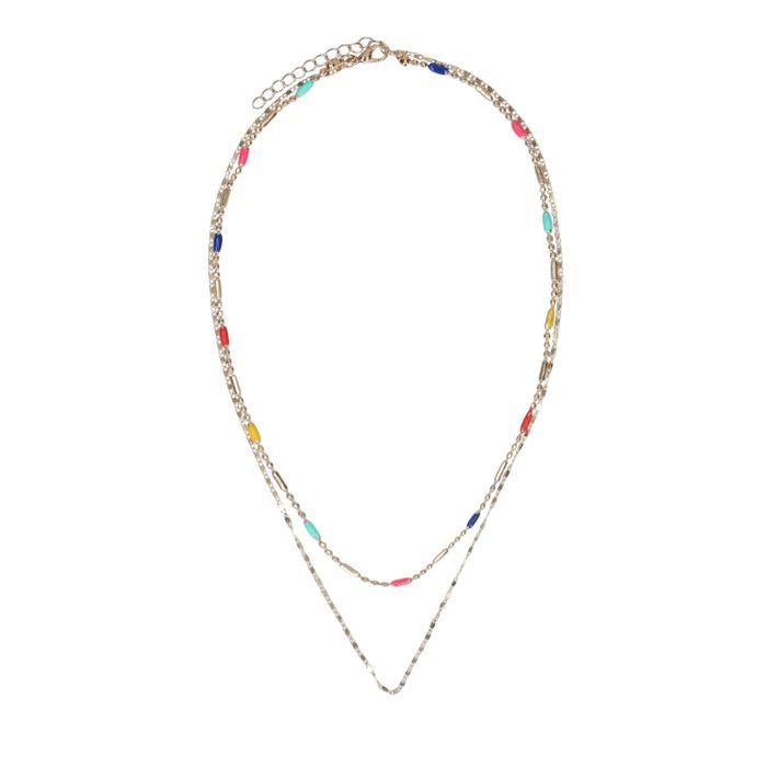 Collier avec petites perles - doré