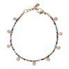 Bracelet multicolore avec pièces