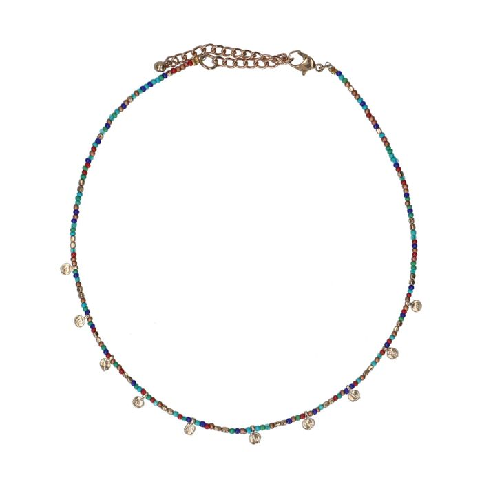 Collier multicolore avec pièces