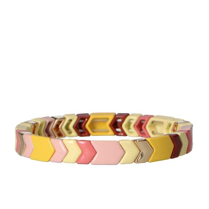 Bracelet avec perles colorées - multicolore