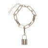 Bracelet maillons avec cadenas - doré