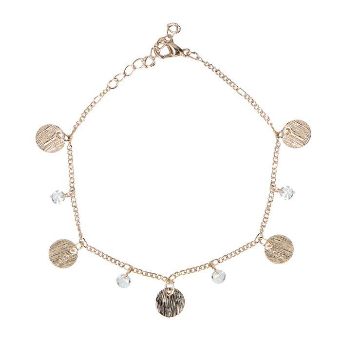 Bracelet avec pièces - doré
