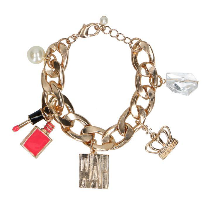 Bracelet breloques - doré