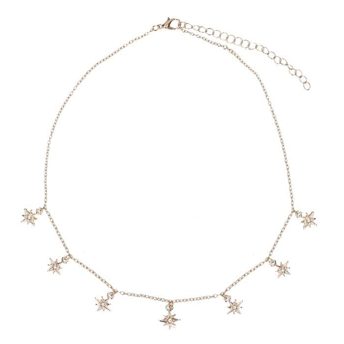 Collier avec petites étoiles - doré