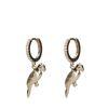 Boucles d'oreille avec perroquet - doré