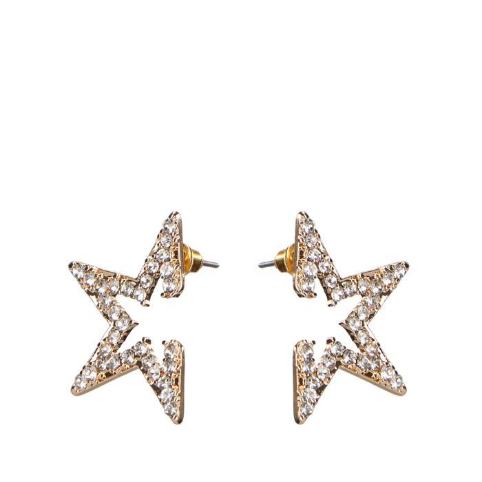 Étoiles avec petites pierres - doré