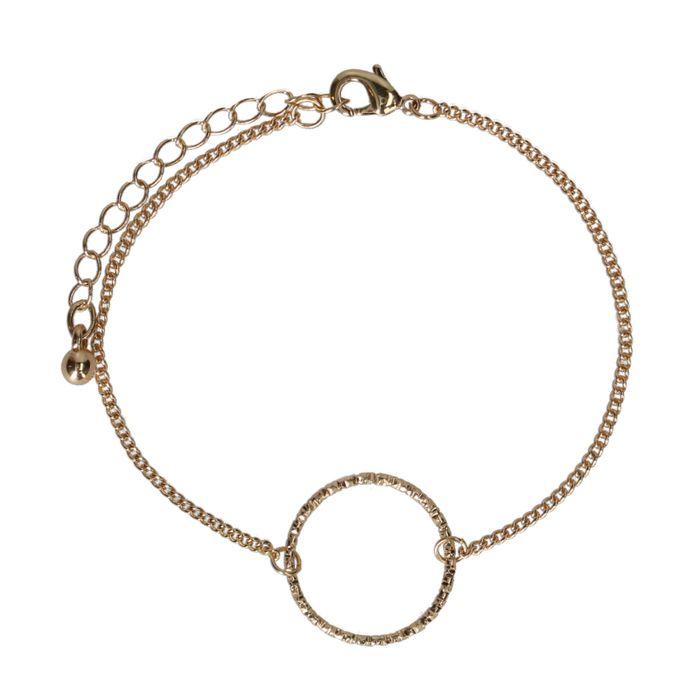 Bracelet maillons avec perles colorées - doré