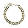 Bracelet gros maillons - doré