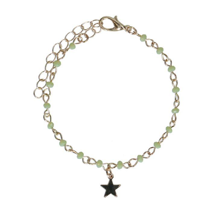 Bracelet avec breloque - doré