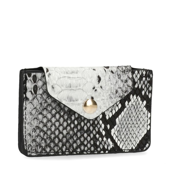 Kleine portemonnee met snakeskin
