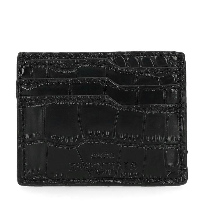 Zwarte cardholder met snakeskin