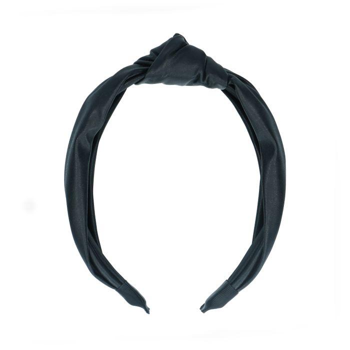 Zwarte haarband met knoop