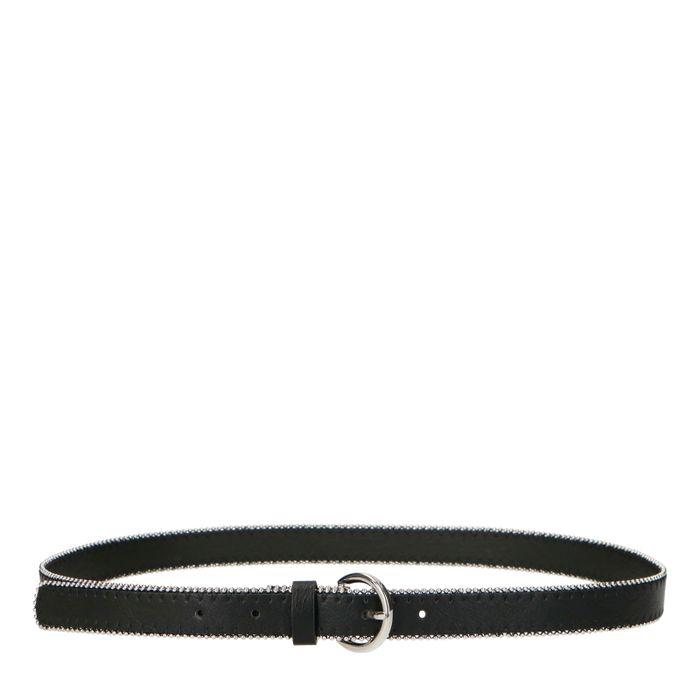 Zwarte riem met zilverkleurige studs