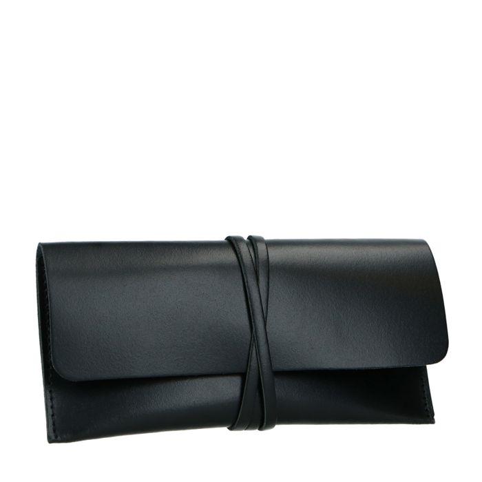 Schwarzes Sonnenbrillenetui aus Leder