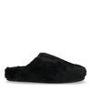 Schwarze Woll-Pantoffeln