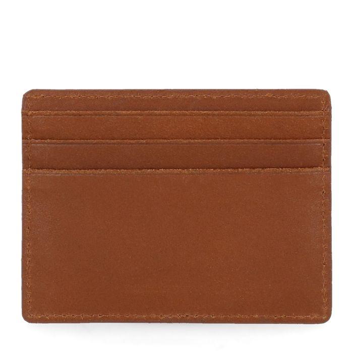 Cognac portemonnee voor pasjes