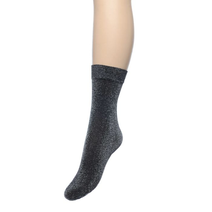 Zwarte glitter sokken