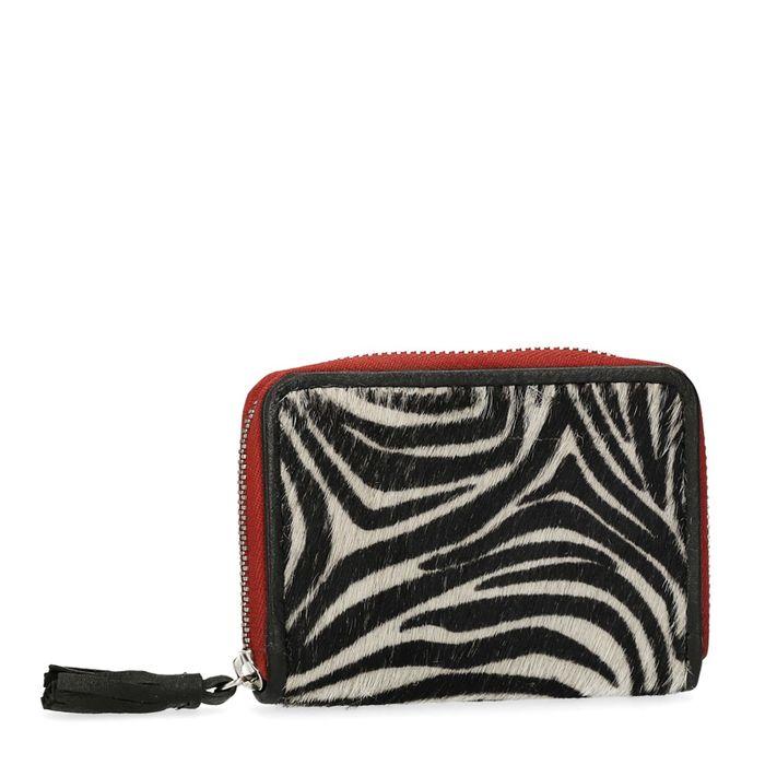 Kleine portemonnee met zebraprint