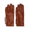 Bruine leren handschoenen met rits