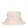 Beigefarbener Bucket Hat aus Canvas