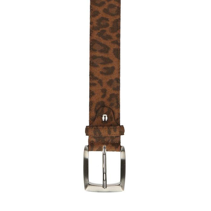 Brauner Gürtel mit Leopardenmuster