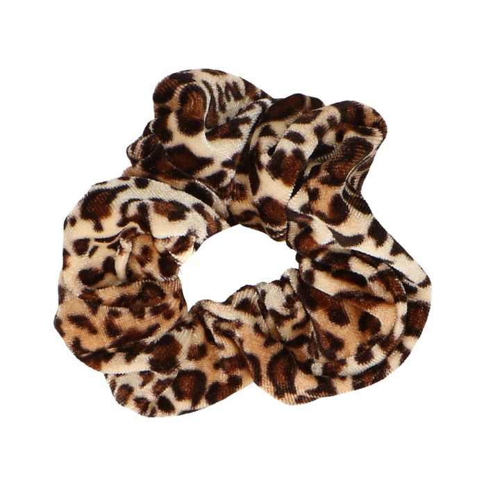 Samt-Scrunchie mit Leopardenmuster