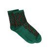 Grüne Glitzer-Socken mit Leopardenmuster