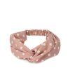 Roze haarband met witte dots