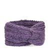 Gebreide haarband paars