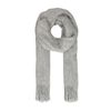 Grijze hairy sjaal
