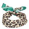 Beige/groen sjaaltje met luipaard print